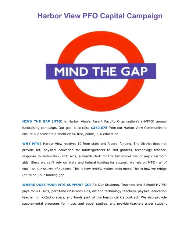 Mind the Gap p1