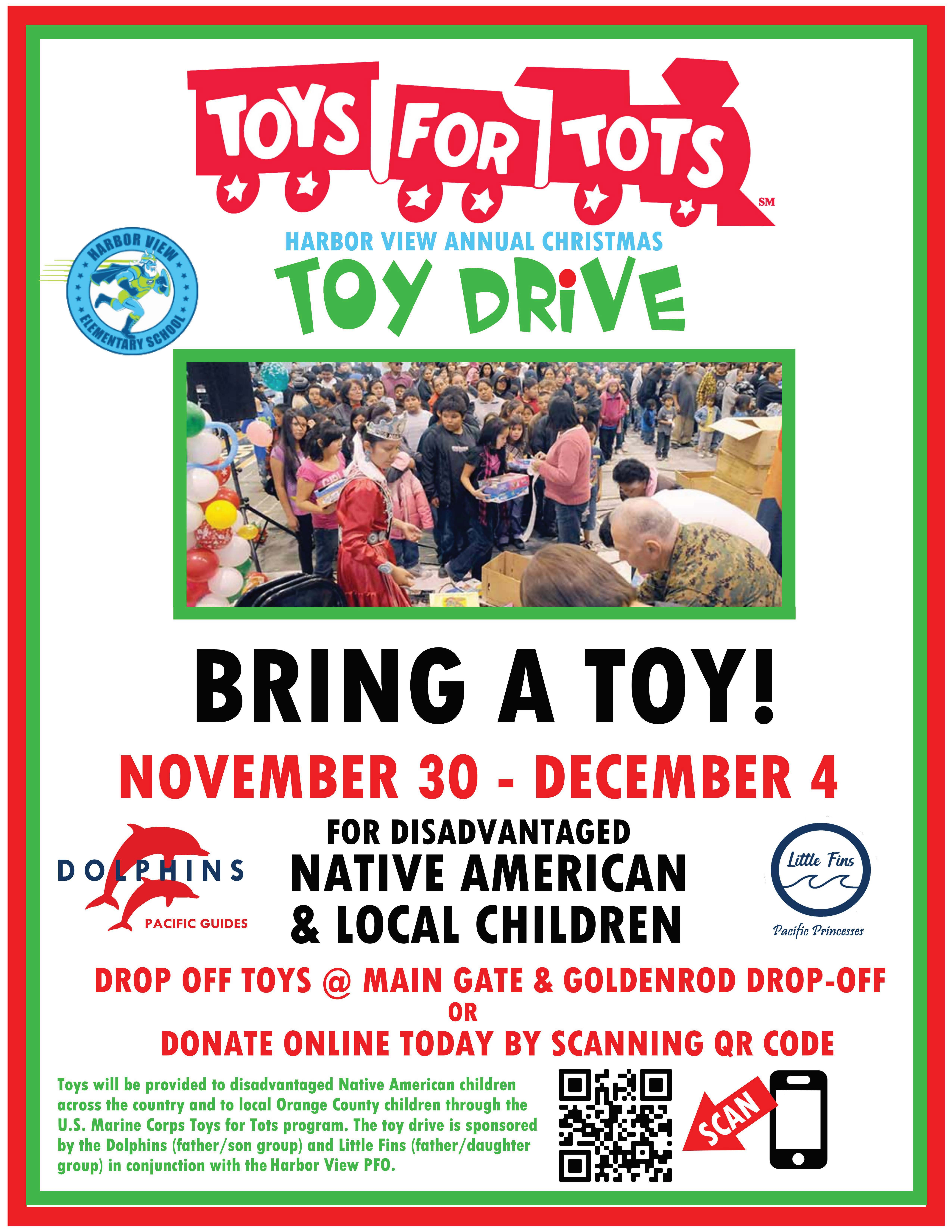 Toys for Tots Harbor View (Dolphins & Little Fins) Flyer